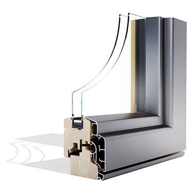 Alulok 90 CLASSIC drvo aluminijski prozor - Lokve Quality Windows