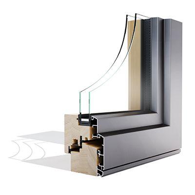 Alulok 90 STYLE drvo aluminijski prozor - Lokve Quality Windows