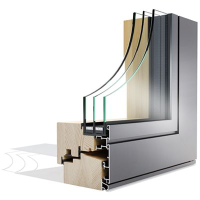 Mega Alulok 125 FLAT drvo-aluminijski prozor - Lokve Quality Windows