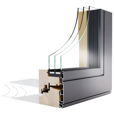 Win Alulok 100 DESIGN drvo-aluminijski prozor - Lokve Quality Windows